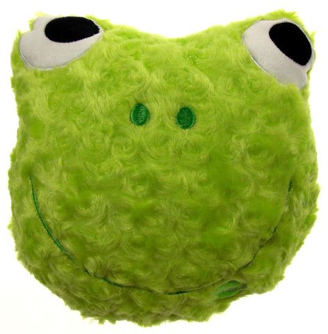 "Green Frog Pillow Multi Color LED Light Up Flash Plush 9"" Microbeads Home Decor - FUNsational Finds - 1"