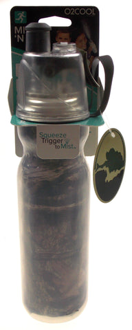 O2COOL Squeeze Mist N Sip Green Mossy Oak Camo Insulated Water Bottle Insulated