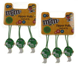 M&M Zipper Pulls Green Set 6 Easy Open Quick ID Suitcase Duffel Bags Backpacks