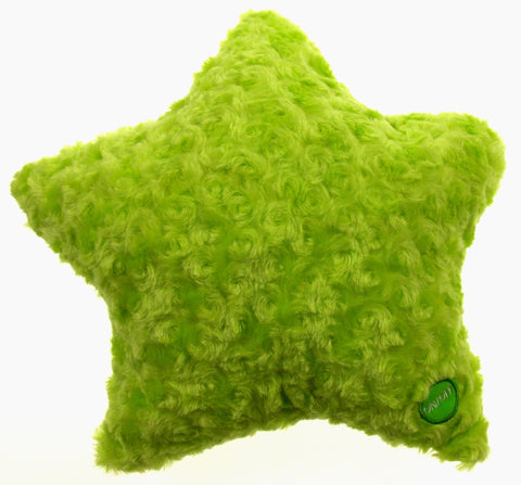 "Green Star Pillow Color LED Light Up Flash Plush Throw Couch Bed 13"" Microbeads - FUNsational Finds - 1"