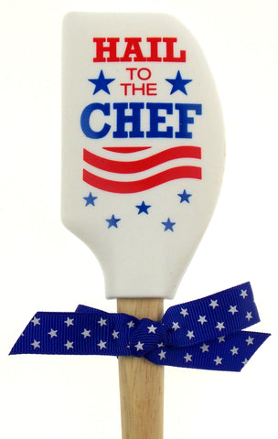 Hail To The Chef Silicone Wood Spatula Red White Blue President Election Politic - FUNsational Finds - 1
