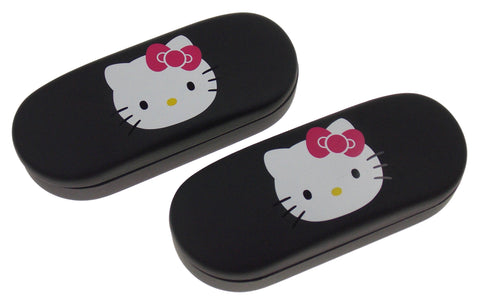 Hello Kitty Eyeglass Sunglass Hard Case Black Lot 2 Licensed Kids Padded Travel