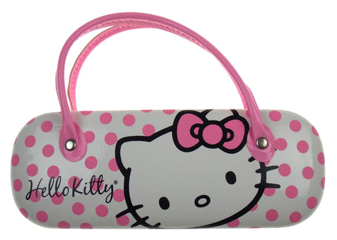 Hello Kitty Sunglasses Eyeglass Reading Hard Case Pink Dots Licensed Handles