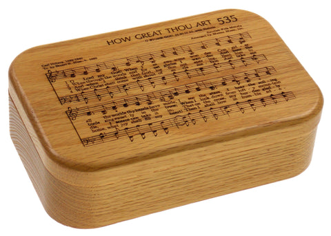 Wooden Music Box How Great Thou Art Hymn 535 Carl Boberg Jewelry Box Engraved