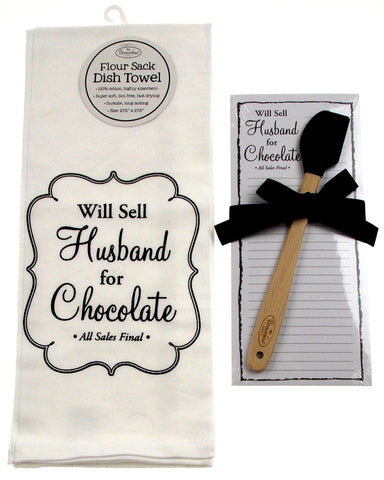 Sell Husband Chocolate Towel & Magnetic Notepad Silicone Black Spatula Brownlow - FUNsational Finds - 1
