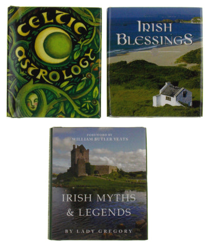 Lof of 3 Irish Blessings Myths Legends Celtic Astrology Mini Books St Patricks - FUNsational Finds - 1