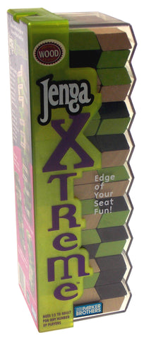 Jenga Xtreme Family Game Precision Crafted Wood Slanted Wooden Stacking Blocks - FUNsational Finds - 1