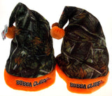 Set 2 Childs Santa Christmas Hats Kids Bubba Claus Jr Camo Orange Plush Holiday - FUNsational Finds - 1