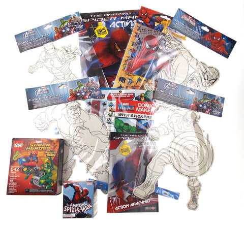 Marvel Universe Kids Spiderman Activity Set Iron Man Hulk Captain America