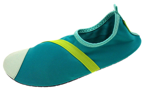 FitKicks Turquoise Green Blue Womens Active Lifestyle Footwear Shoes Commuting - FUNsational Finds - 1