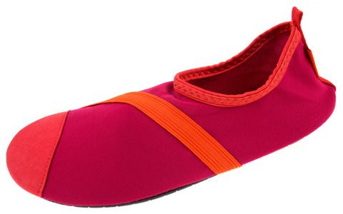 FitKicks Fuchsia Orange Womens Large Pink Active Lifestyle Footwear Shoe 8.5-9.5 - FUNsational Finds - 1