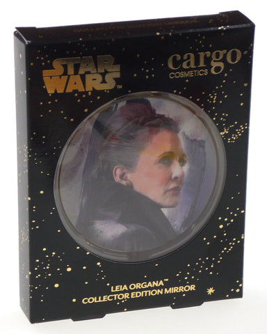 Star Wars Leia Organa Compact Mirror Cargo Cosmetics Collector Limited Edition