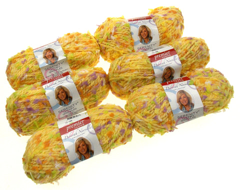 Premier Yarns Deborah Norville Serenity Little Chick Color Lot of 6 Skeins Balls