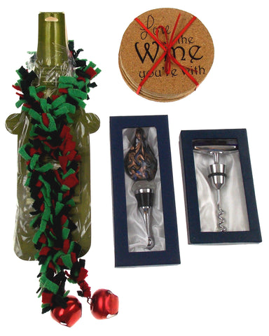 Wine Coaster Accessory Set of 7 Love Wine Bottle Decoration Corkscrew Stopper - FUNsational Finds - 1