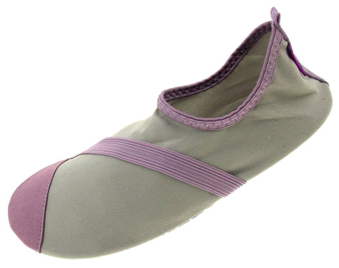 FitKicks Gray Purple Womens Medium Active Lifestyle Footwear Shoe 7-8 Walking - FUNsational Finds - 1