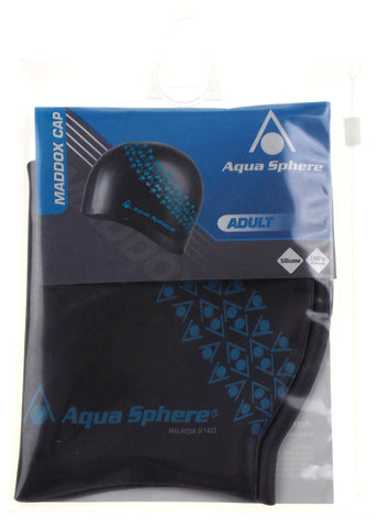Aqua Sphere Maddox Swim Cap Adult Black Silicone Lot 3 100%UV Protection Easy On - FUNsational Finds - 1