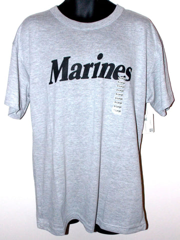 Marines Short Sleeve T-Shirt Mens Green Gray Choice Size Rothco Cotton Polyester - FUNsational Finds - 1