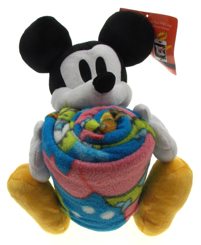 Disney Mickey Mouse Plush Hugger Spongebob Throw Set Soft Cuddly Stuffed Animal