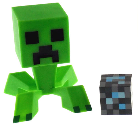 "Minecraft Creeper 6"" Vinyl Figure 2"" Diamond Block Moveable Head Jinx Mojang NIP - FUNsational Finds - 1"