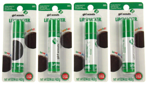 Girl Scouts Thin Mints Cookie Flavor #065 Lip Smacker Gloss Lot of 4 Made USA - FUNsational Finds - 1
