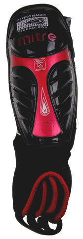Mitre Shin Guards Protection GW Plus Soccer Adult Red Anklet Vented Mesh Pair - FUNsational Finds - 1