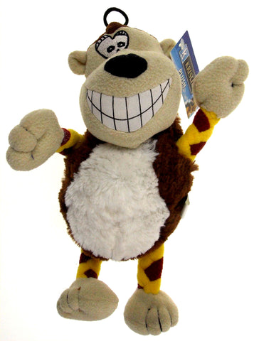 "Krislin Plush Funny Face Smiling Monkey Dog Puppy Pet Toy 11"" Squeak Noise NEW - FUNsational Finds - 1"