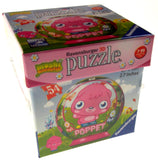 "Set 2 Moshi Monsters Ravensburger 3D Puzzle Poppet Diavlo 54 Pc 2.7"" Round NEW - FUNsational Finds - 3"