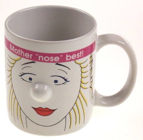 Mother Nose Best 3D Mugz by Ganz White Coffee Mug Tea Ceramic - FUNsational Finds - 1