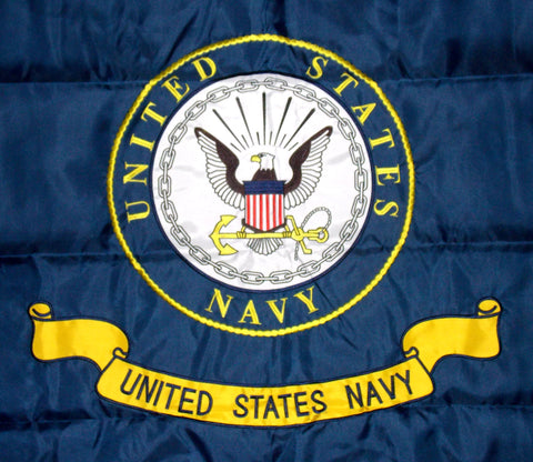 United States Navy Logo Double Sided Nylon Embroidered 3x5 Foot Flag Banner US