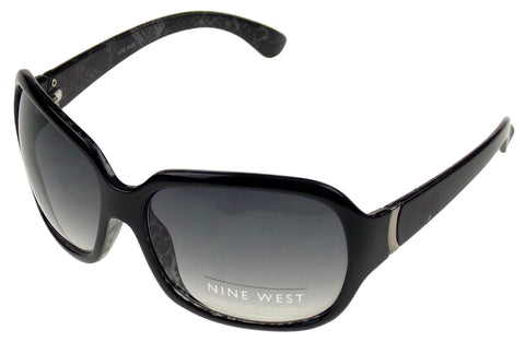 Nine West Cat Eye Sunglasses Black 100% UV Protection Plastic 63-17-130 Case Lg - FUNsational Finds - 1