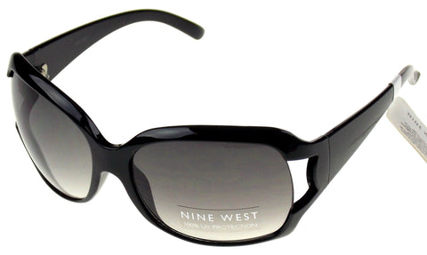 Nine West Cat Eye Sunglasses Black 100% UV Protection Plastic Large 63-17-130 - FUNsational Finds - 1