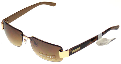 Nine West Rectangular Sunglasses Brown Marble Copper 100% UV Plastic 65-17-130 - FUNsational Finds - 1
