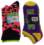 11 Pairs Crew & No Show Socks Women Krazisox Rampage OMG LOL Wild Love XOXO 4-10 - FUNsational Finds - 2