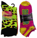 11 Pairs Crew & No Show Socks Women Krazisox Rampage OMG LOL Wild Love XOXO 4-10 - FUNsational Finds - 1