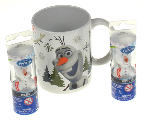 Disney Frozen Olaf Sven Coffee Mug Micro Lite Set of 3 Zak Figure Light Up Gift
