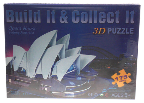 "Super 3D Opera House Colored Puzzle Sydney Australia 16.7"" Long Foam 175 Pieces"