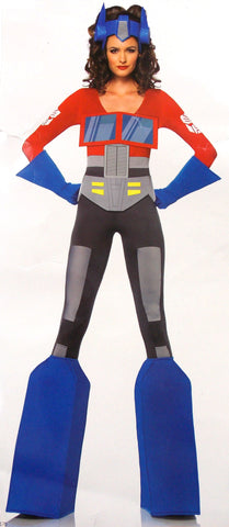 Leg Avenue Transformers Optimus Prime Medium 8-10 Sexy Halloween Costume Catsuit - FUNsational Finds - 1