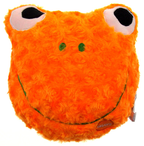 "Orange Frog Pillow Colored LED Light Up Flash Plush 9"" Microbeads Sofa Bed Decor - FUNsational Finds - 1"