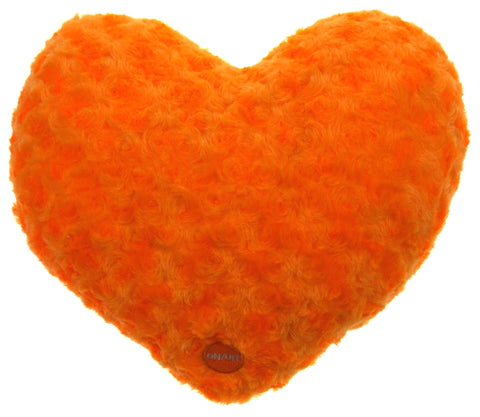 "Orange Heart Plush Throw Pillow Multi Color LED Light Up Flash 13"" Microbeads - FUNsational Finds - 1"