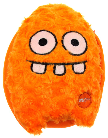 "Orange Rocket Head Pillow Color LED Light Up Flash Plush 10"" Microbeads Decor - FUNsational Finds - 1"