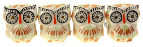"4 Decorative Ceramic Textured Owl Cabinet Drawer Knobs 2"" White Hardware Kitchen - FUNsational Finds - 1"