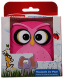 Rubbermaid Blue Ice Reusable Pack Pink Owl Set of 2 Non Toxic Lunch Box Cooler - FUNsational Finds - 1