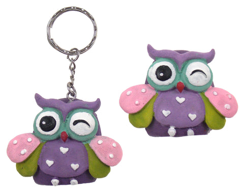Fashioncraft You Are Special Wise Owl Refrigerator Magnets Key Ring Set 8 Purple