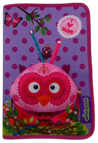 Okiedog Wildpack 3D Pencil Case Pippa Owl Purple Zippered Pouch School Supply - FUNsational Finds - 1