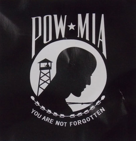 POW MIA You Are Not Forgotten Fleece Blanket Throw Black White 67x52 Polyester - FUNsational Finds - 1