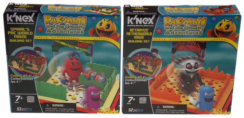 Lot 2 KNEX Building Sets Pacman Ghostly Adventures Spirals Betrayus World Maze - FUNsational Finds - 1