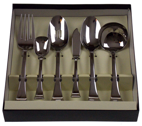 Oneida Perch 6 Pc Serving Set Silverware Flatware 18 10
