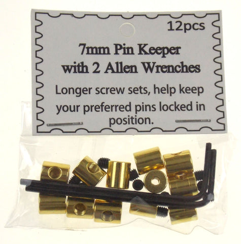 Gold Pin Keeper 7 mm 6 Sets of 72 Locking Pinback Lapel Back Vest Cap Lock Saver