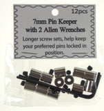 7mm Silver Pin Keeper 6 Sets 72 Locking Pinback Lapel Back Vest Cap Lock Saver