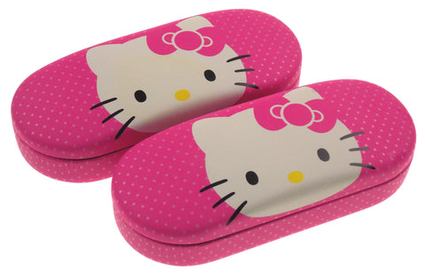 Hello Kitty Eye Sun Glasses Hard Case White & Pink Lot 2 Licensed Kids NEW